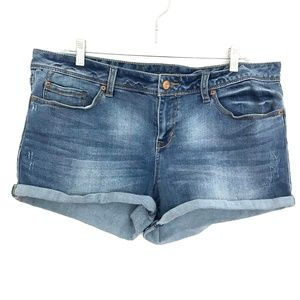 American Rag jean shorts denim blue Jrs 15 stretch